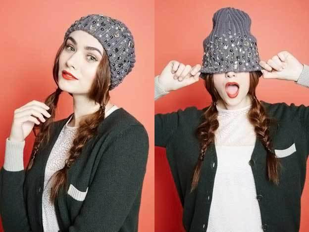 Шапочка бини, модная для зимней заботы о волосах