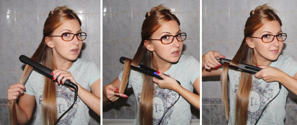 Как сделать локоны утюжком для волос