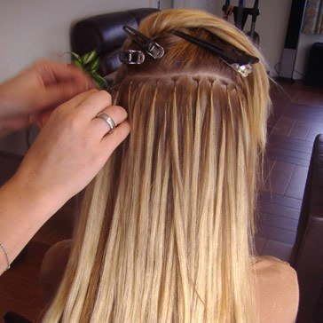 Английское наращивание волос фото