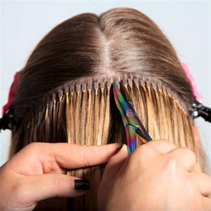 Как делают капсульное наращивание волос фото