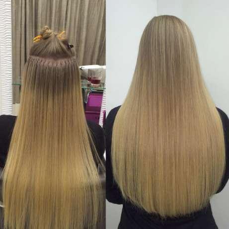 Капсульное наращивание на светлые волосы фото