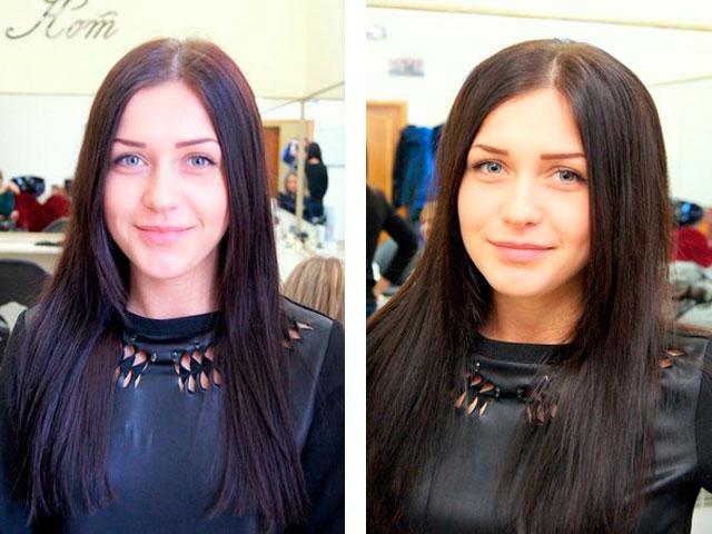 Прикорневой объем на волосах средней длинны фото
