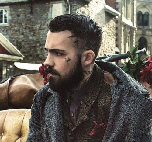 Мужской стиль с классической бородой фото