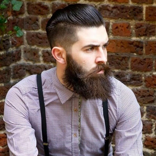 Хипстерская борода и стрижка фото