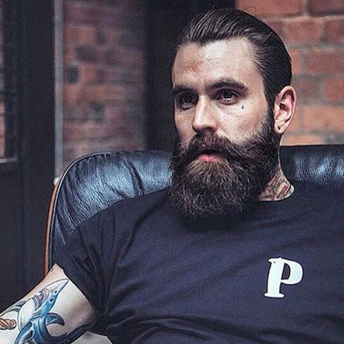 Брутальный образ с бородой мужской стиль фото