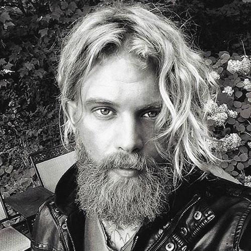 Борода с длинными волосами фото 2018