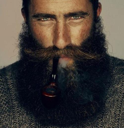 Длинная густая борода и длинный усы мужской стиль фото