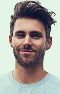 Брутально уложенные волосы с бородой фото