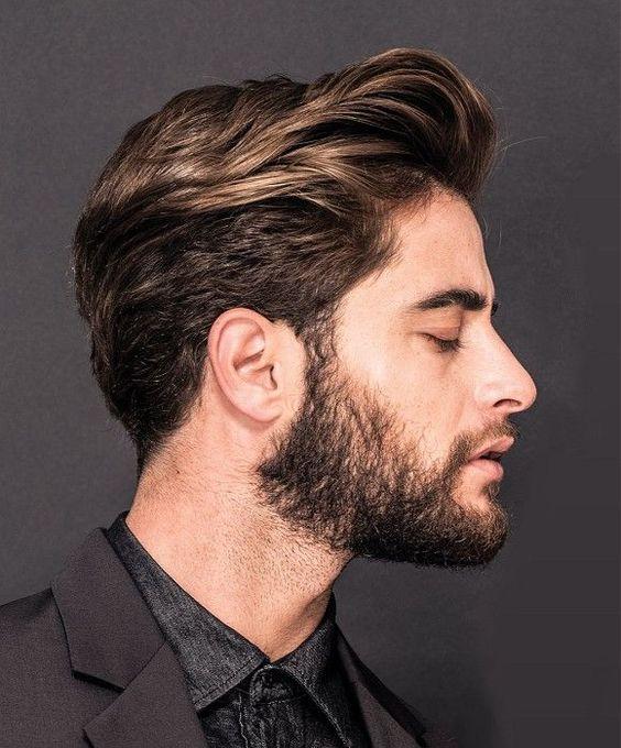 Стрижка средней длинны с бородой фото