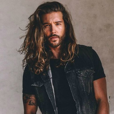 Мужская борода с длинными волосами фото