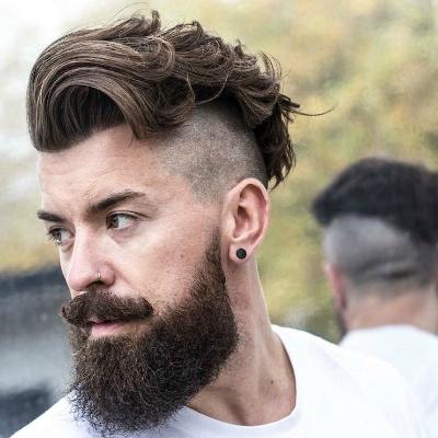 Мужская стрижка андеркат с бородой фото