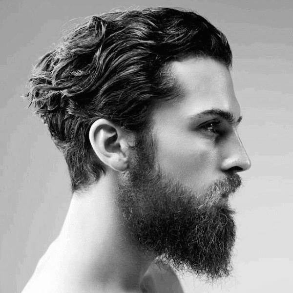 Стрижка с челкой и бородой вьющиеся волосы фото