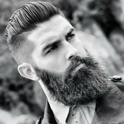 Стрижка андеркат для мужчин с бородой фото