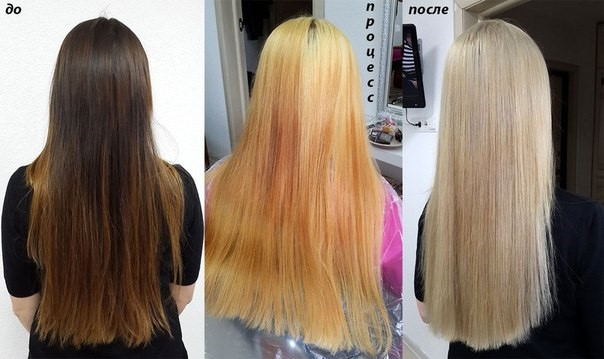 Желтизна после отбеливания волос