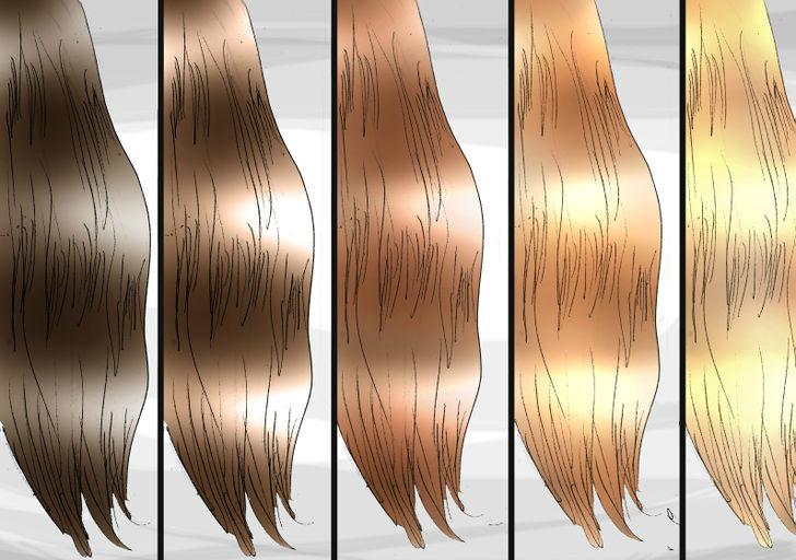 Отбеливание волос последовательности