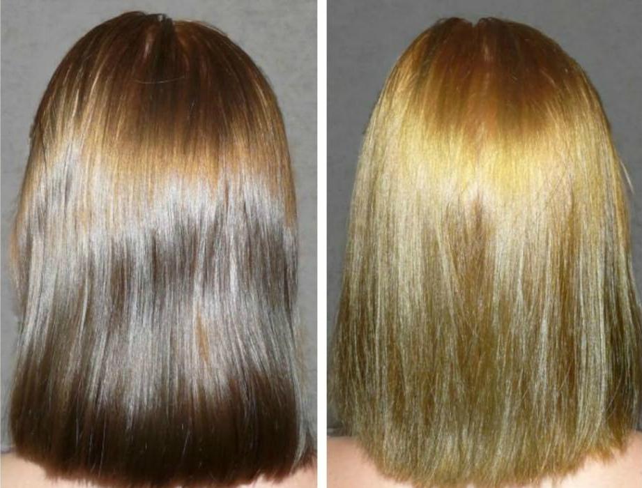Осветление темных волос уксусом результат