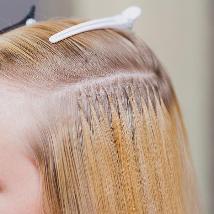 Итальянская техника наращивания волос фото