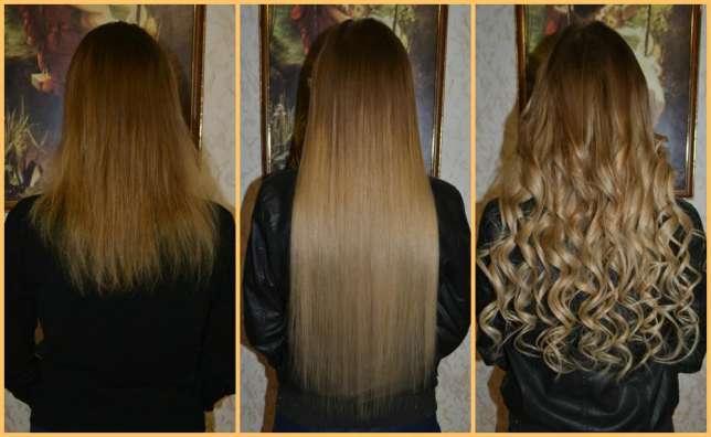 Наращивание волос как это выглядит фото