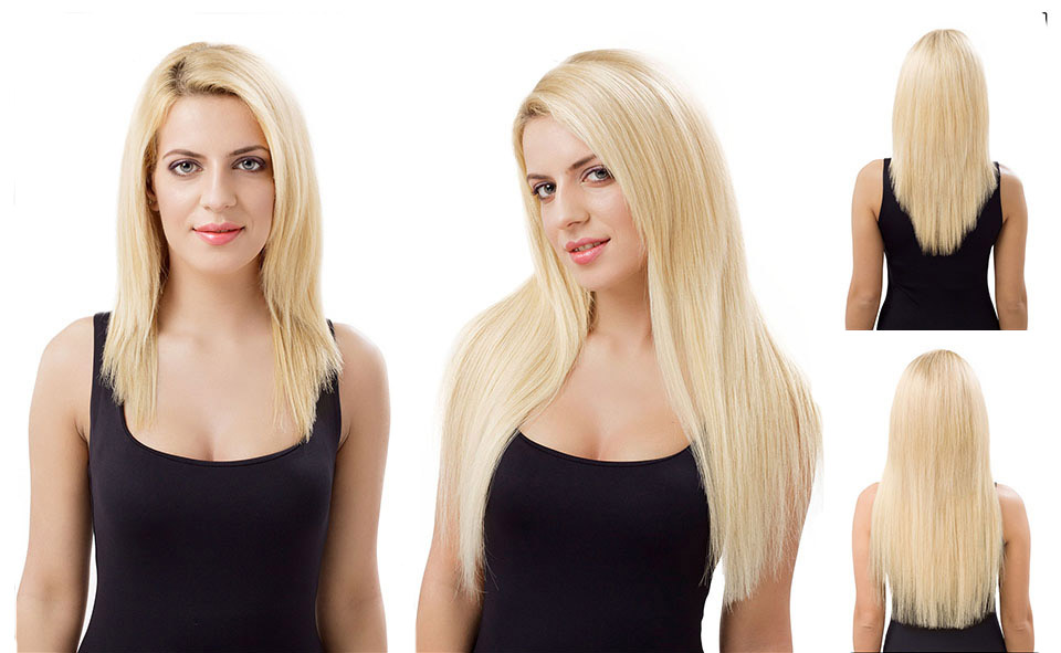 Микрокапсульное наращивание волос фото
