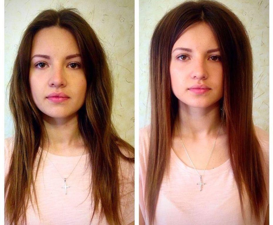 Буст ап на средние волосы