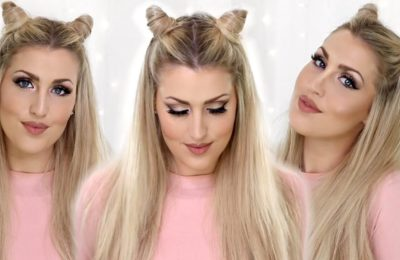 Две гульки в форме ушек с распущенными волосами