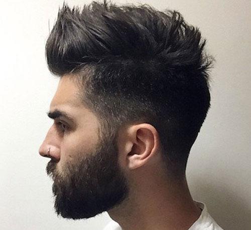 Борода с длинной челкой фото