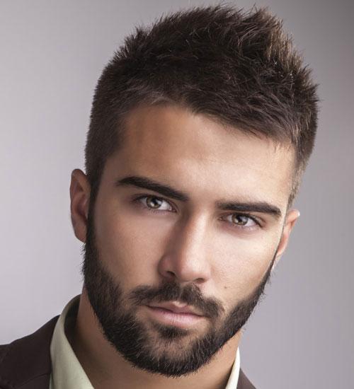 Короткая стрижка с бородой фото