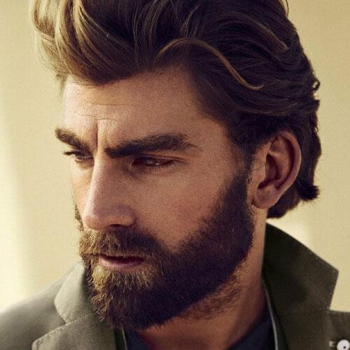 Стрижка бороды с густыми усами фото