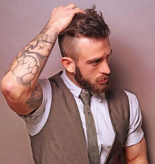 Борода с челкой фото 2019