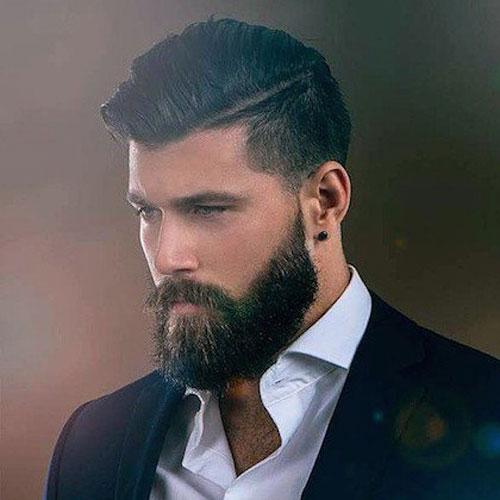 Классическая стрижка с бородой фото